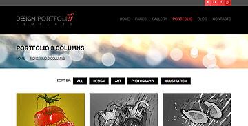 Design Portfolio – Responsive HTML Theme
