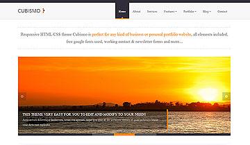简洁企业网站设计PHP+css+html