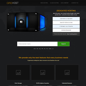 GridHost Hosting Theme