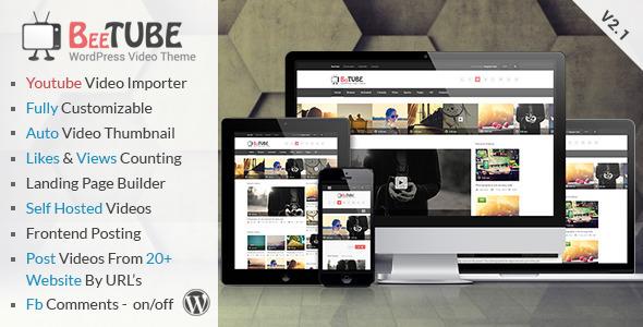 BeeTube v2.0 - Themeforest Video WordPress Theme
