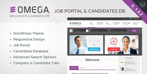 Omega v1.3.2 - WordPress Job Portal & Candidate Database