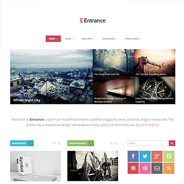 Entrance - WordPress Theme for Magazine and Review