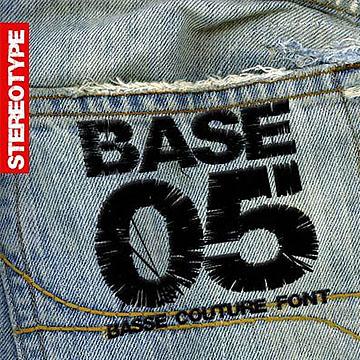 设计师常用的仿真绣线字体Base05