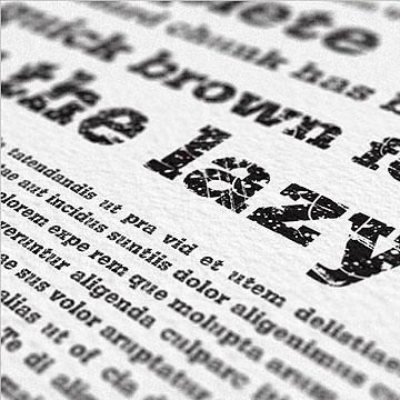 设计师常用的英文报纸排版字体SD Grunge Serifia