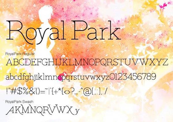 设计师常用的优雅的衬线英文字体 Royal Park