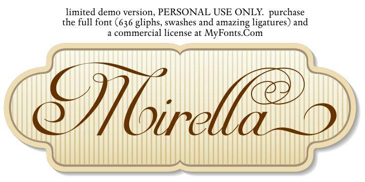 做LOGO一流的PS英文字体设计下载 - Mirella Script