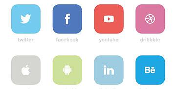 四种扁平化社交图标PSD源文件下载