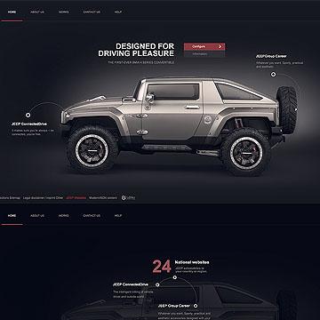 Jeep-汽车网站练习PSD