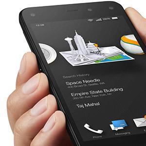 """亚马逊正式发布Fire Phone,盛传的裸眼3D体现在""""动态视角""""技术上,其Firefly技术还可扫描识别超过1亿件物品并支持购买"""